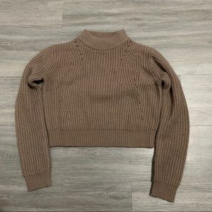 Kendall & Kylie Crop Turtleneck Knit Sweater